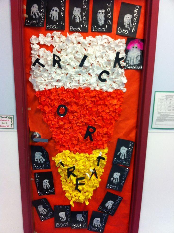 Trick Or Treat Halloween Door Display Halloween Door Door Decorations Classroom Fall Door Decorations