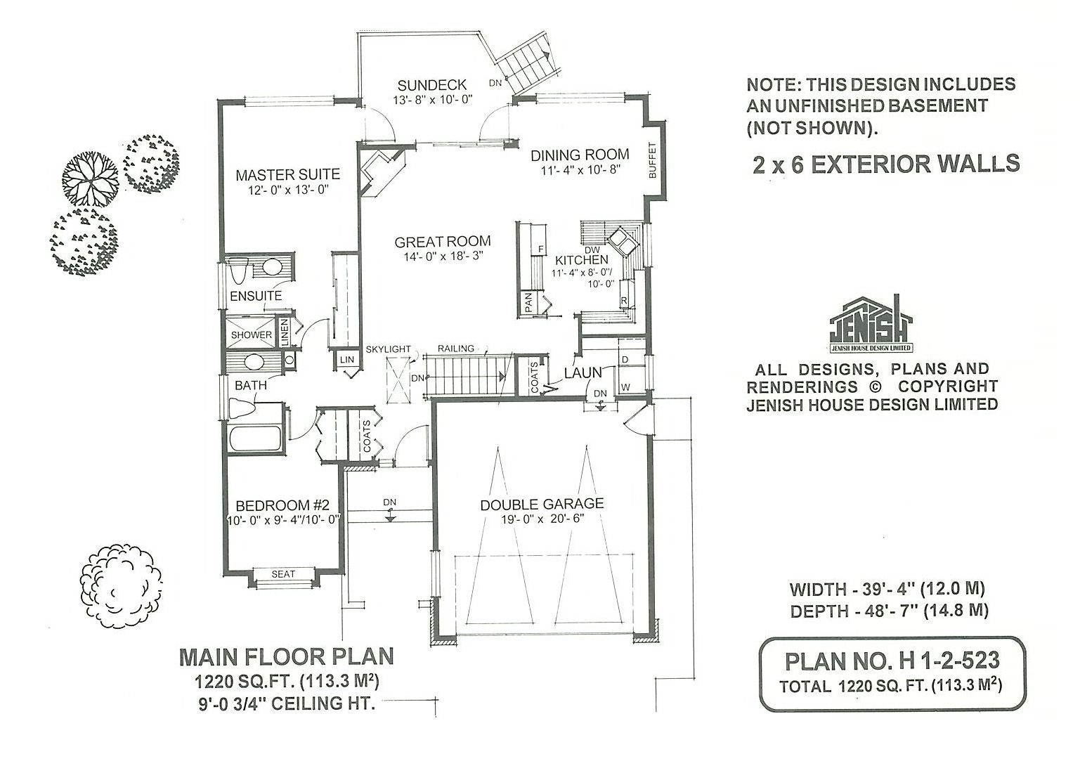 1 2 523 Jenish House Design Limited 2 Bedroom House Plans How To Plan Bedroom House Plans