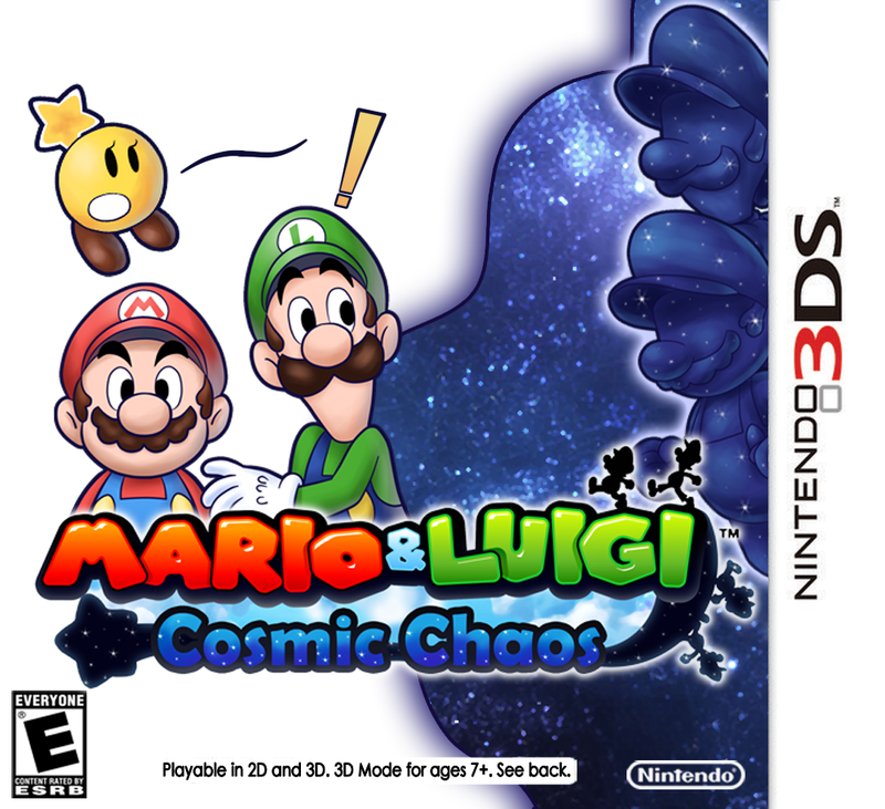 Mario And Luigi Cosmic Chaos Box Art By Bunnyziegs
