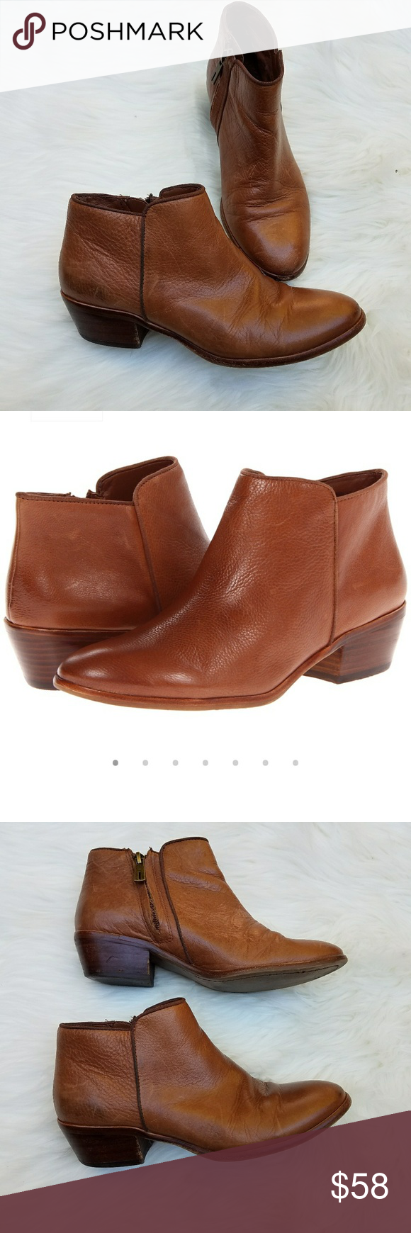 7109830a2 SAM EDELMAN Petty Ankle Boots Booties Cognac SAM EDELMAN Petty Ankle Boots  Booties Cognac. Great preowned condition! Size 6 M Sam Edelman Shoes Ankle  Boots ...