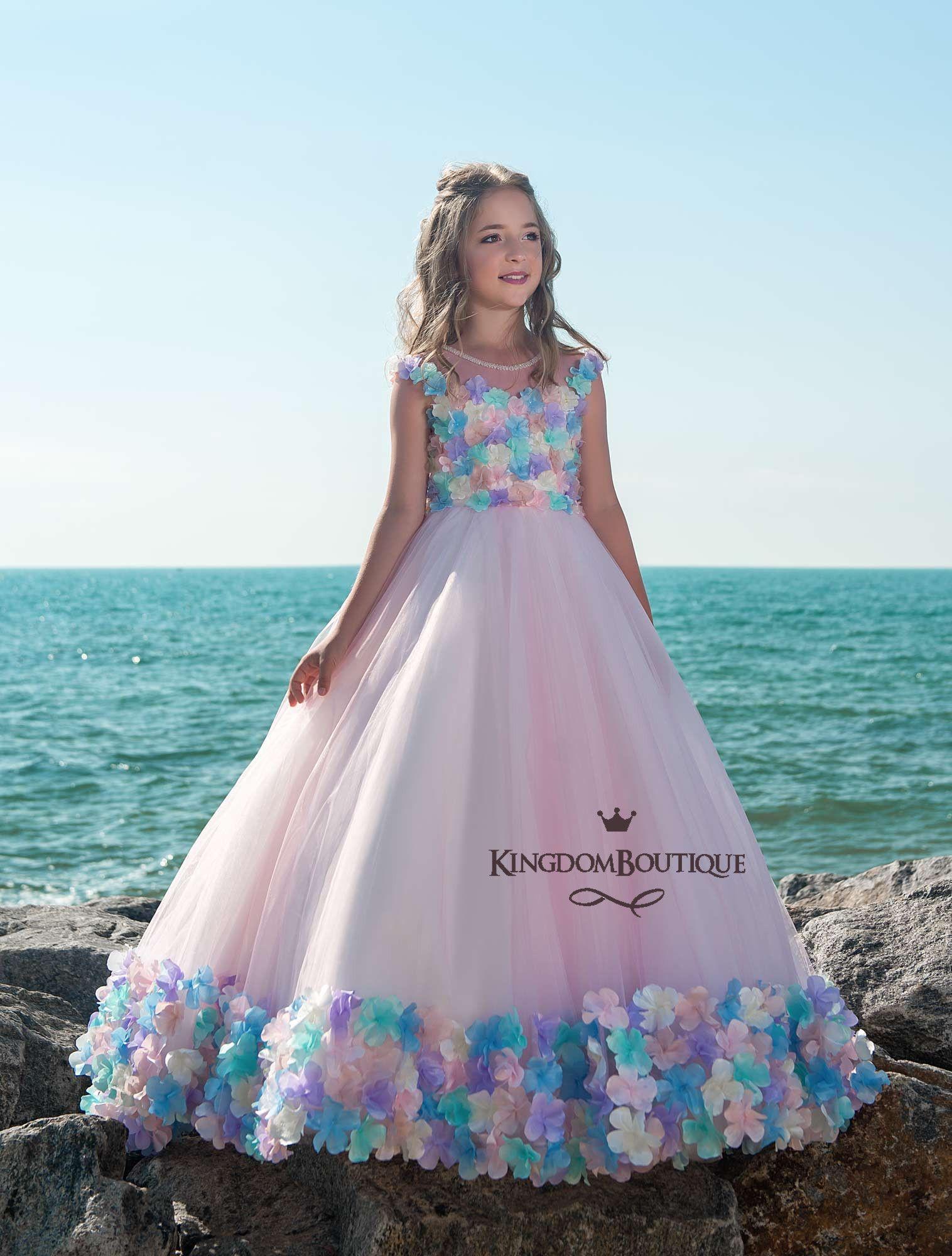 Flower girl dress kingdomutique fashion girl