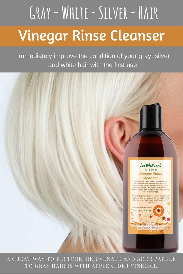 Vinegar Rinse Cleanser Hair Makeup Pinterest Gray Hair