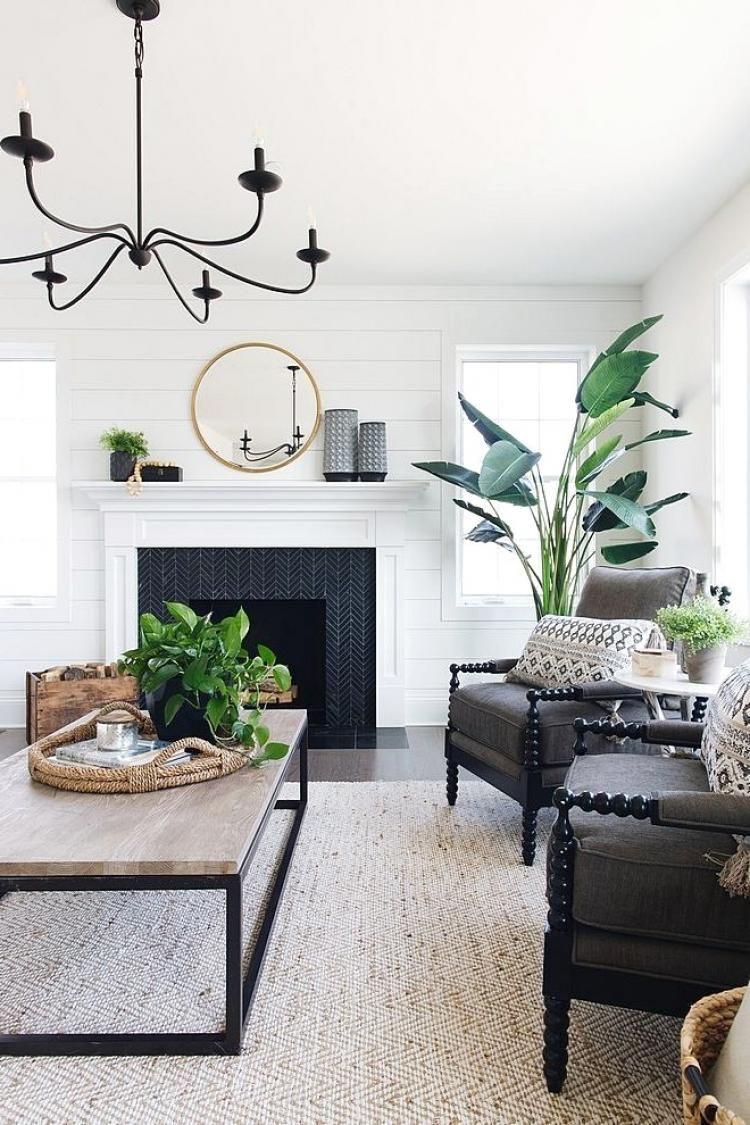 Stunning Rustic Modern Farmhouse Living Room Decorating Ideas