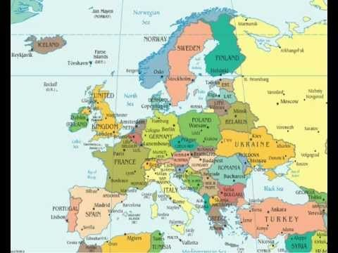 Countries Of The World Europe With Capital Cities And Flags - Interactive world map with countries and capitals