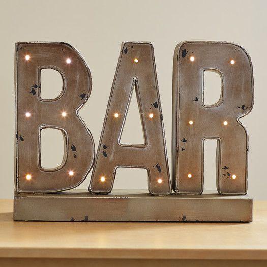 Trent Austin Design Bodie LED Bar Sign Letter Block