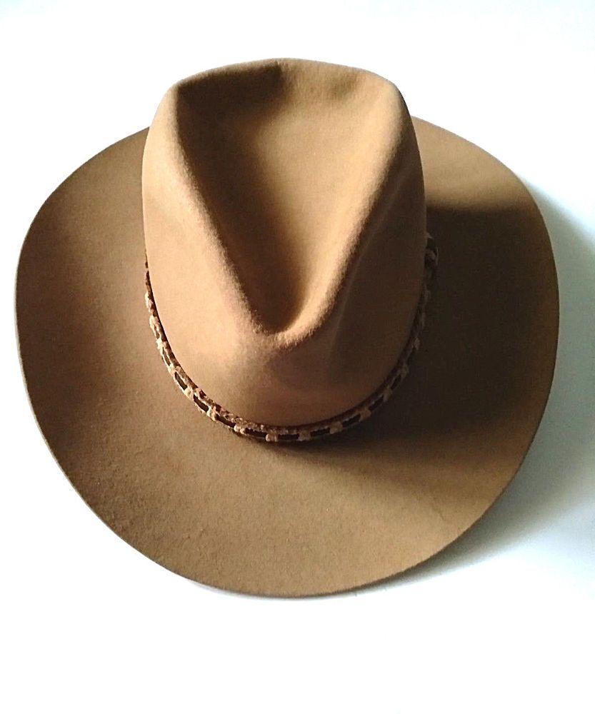 992562baf464c Resistol Roundup Collection Men s Hat Light Tan Western Cowboy hat SZ 7   Resistol  CowboyHat