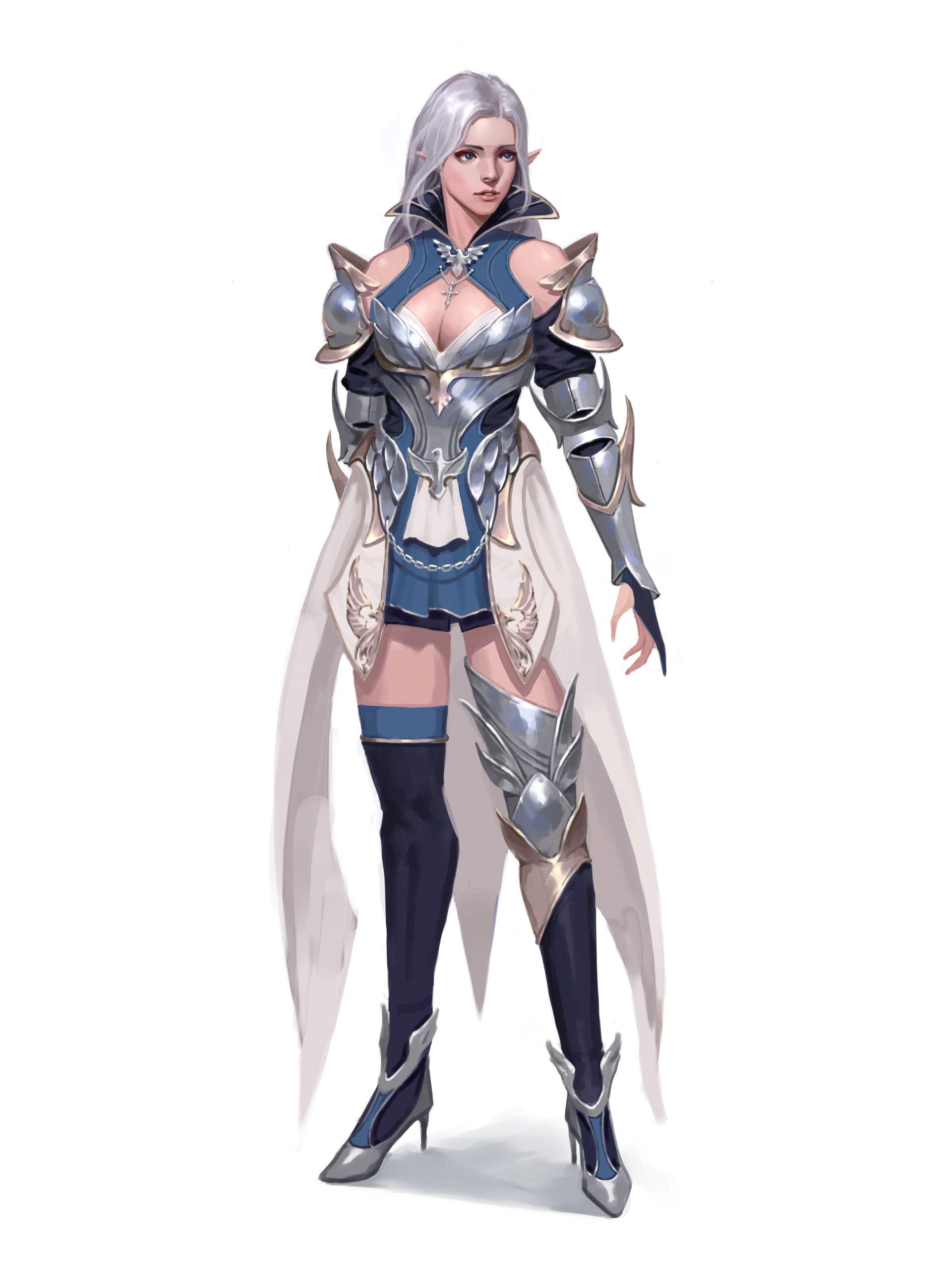 Artstation Knight Elf Bxb Fantasy Female Warrior Female