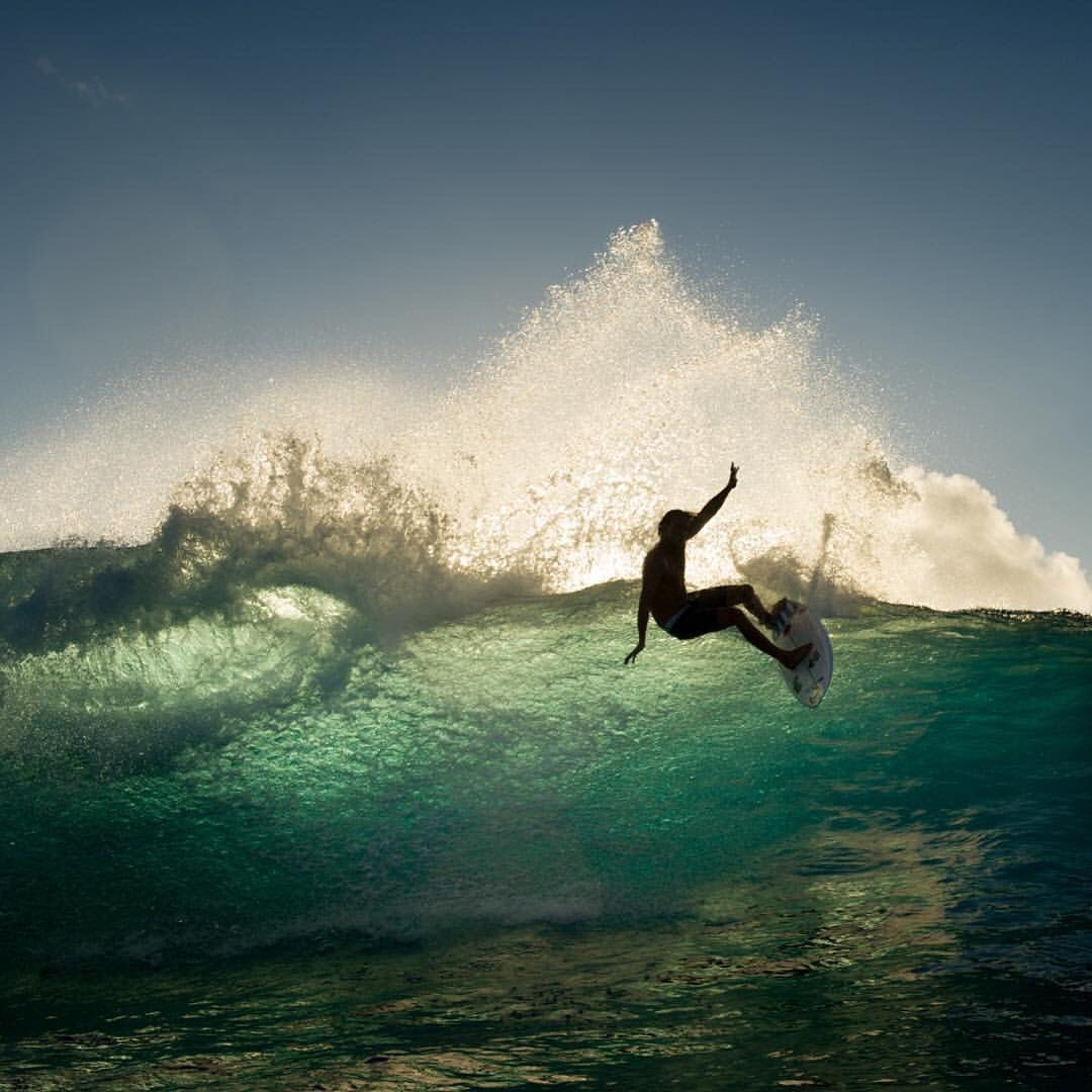 Matt Wilko Backlit In Tahiti Surfing Surf Outfit Surf Trip