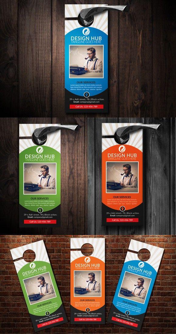 Corporate Business Door Hanger Corporate business, Flyer - door hanger design template