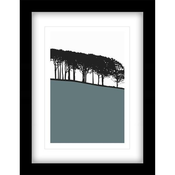 Jacky Al-Samarraie - Guiseley Framed Print, 44 x 34cm (£45) ❤ liked on Polyvore featuring home, home decor, wall art, landscape wall art, tree wall art, tree home decor, john lewis and landscaping trees