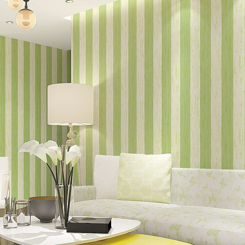 Modern Striped Wallpapers Living Rooms Vertical Stripes Wallpaper ...