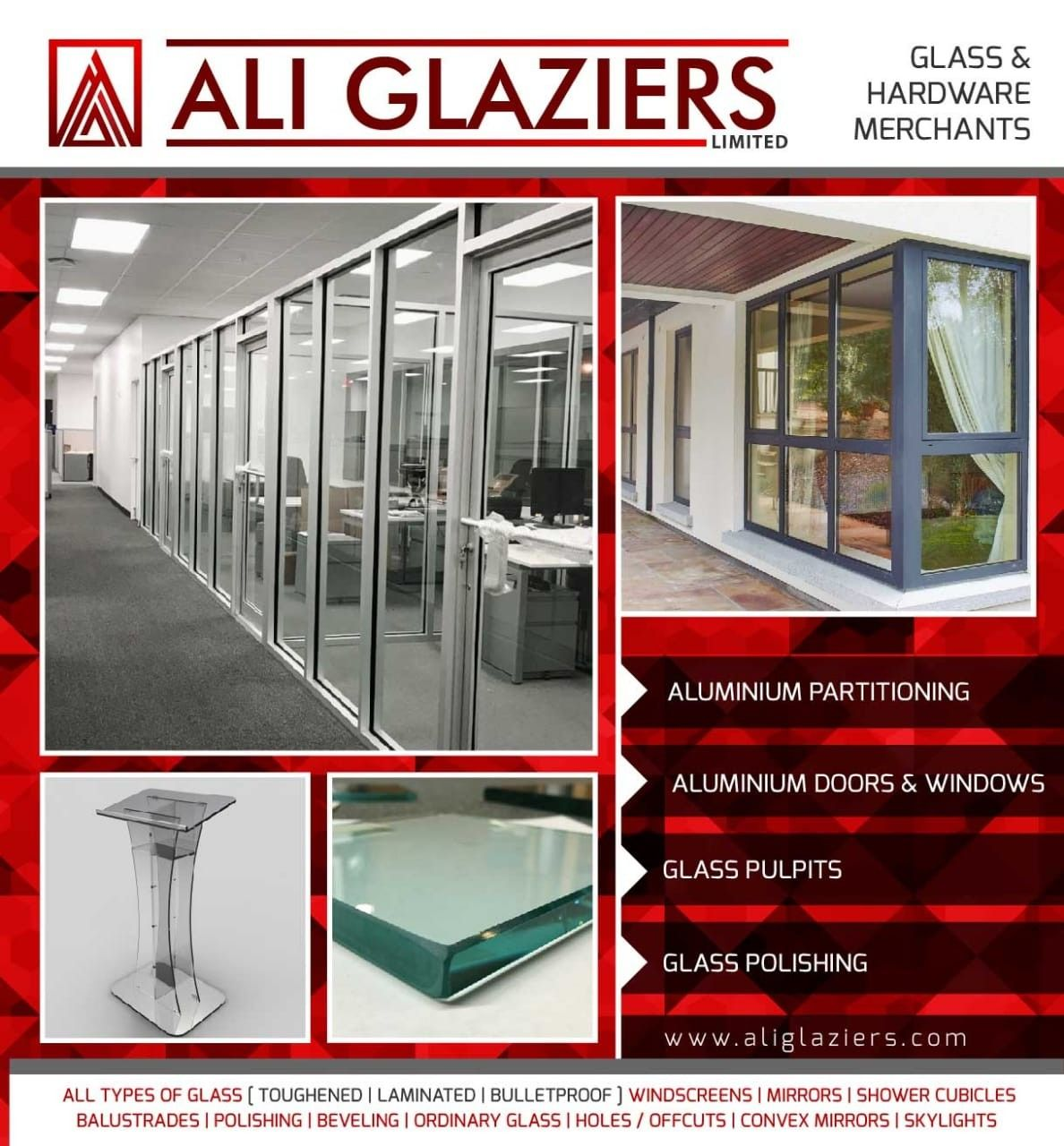 Aluminium Fabrication Podium Stands Polished Glass