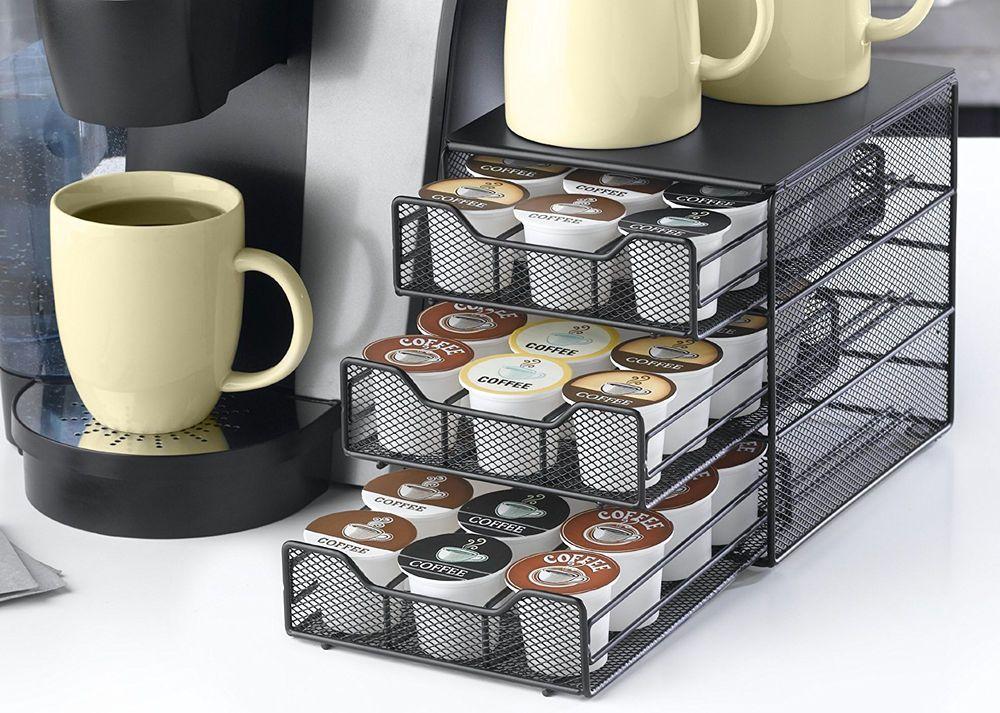 Coffee Pod Holder 36 K-Cup Storage Drawer Rack Cups Keurig Pods Organizer Black #Nifty