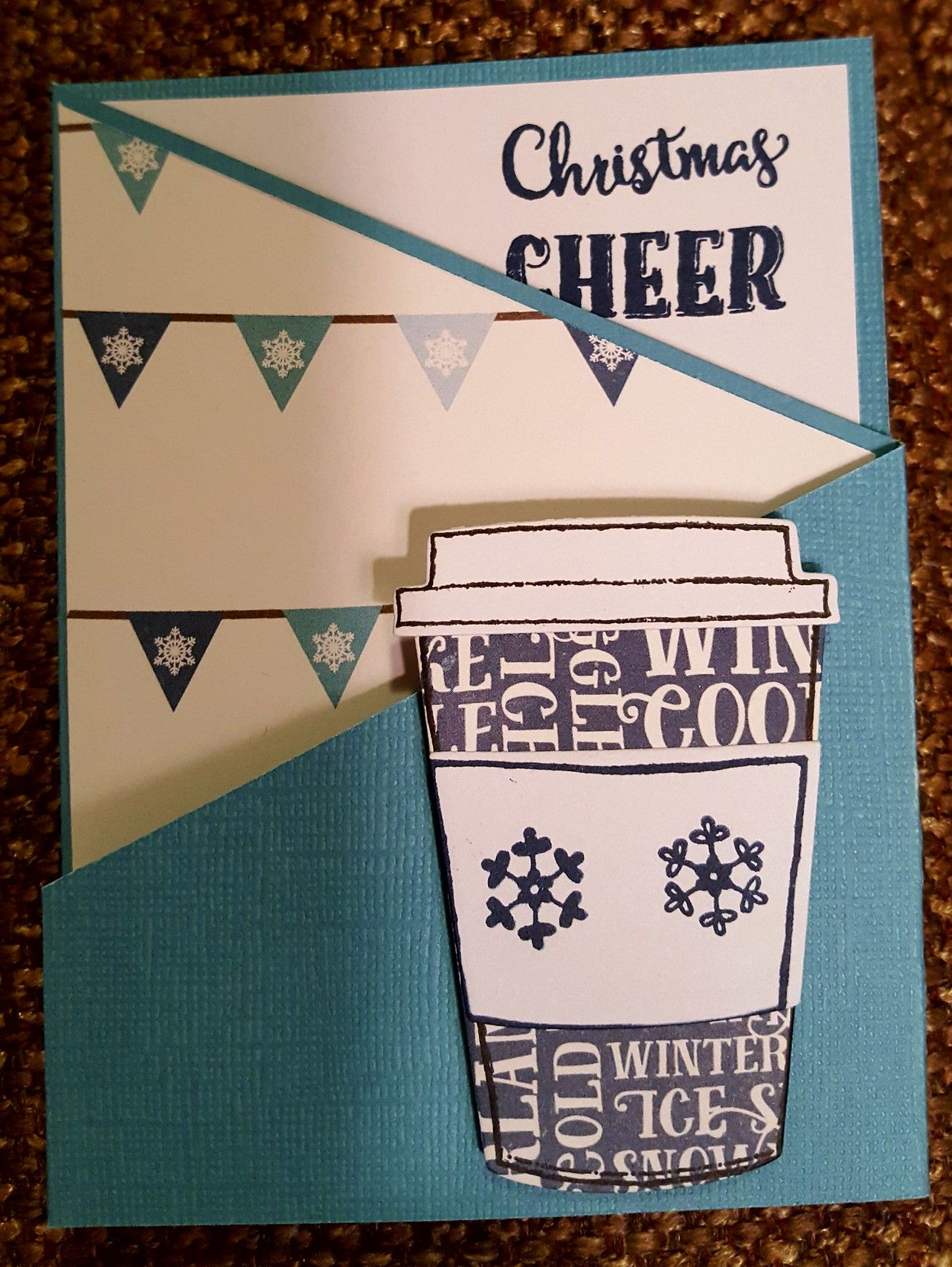 Stampin Up Merry Cafe tri-fold Christmas card   Scrapbooking ...