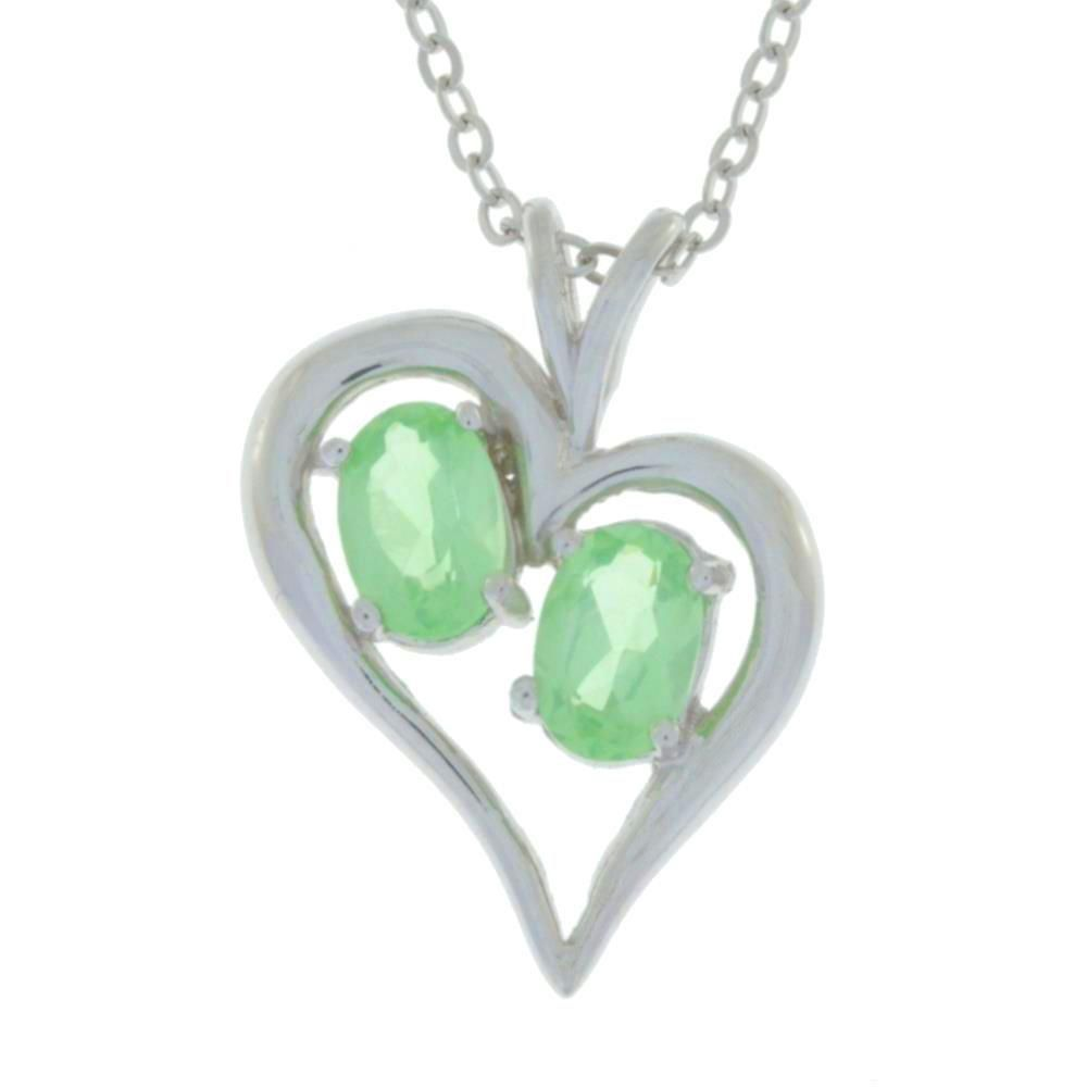 1 ct green sapphire oval heart pendant 925 sterling silver 1 ct green sapphire oval heart pendant 925 sterling silver aloadofball Image collections