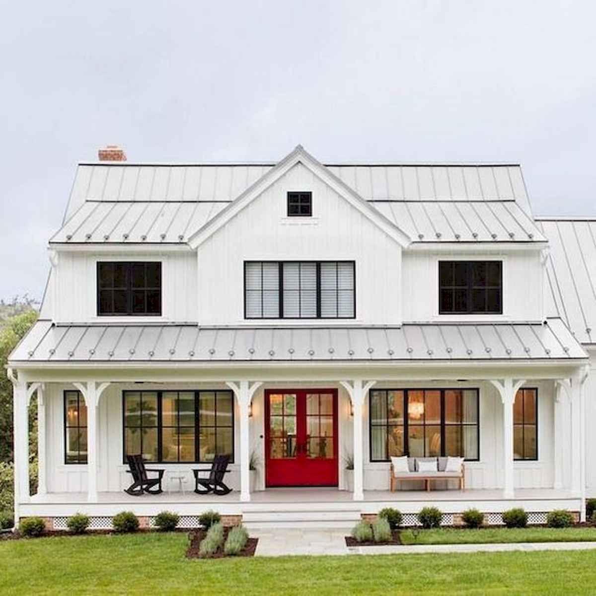 40 Stunning White Farmhouse Exterior Design Ideas 19 Modern Farmhouse Exterior Dream House Exterior House Exterior