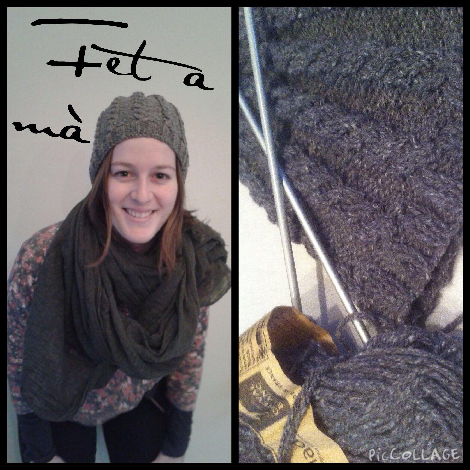 El meu primer gorro!! Patró gratis a: http://www.ravelry.com/patterns/library/giada-cabled-hat