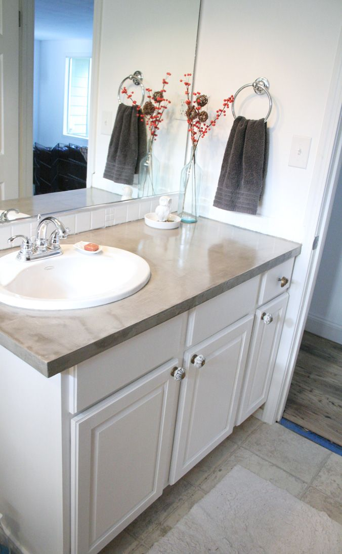 Outstanding Simple Concrete Countertops Tutorial Bathroom Ideas Download Free Architecture Designs Xerocsunscenecom