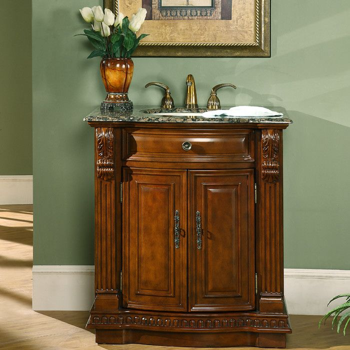 "Silkroad Exclusive Charlotte 33"" Single Bathroom Vanity Set Extraordinary Bathroom Cabinet Reviews Decorating Design"