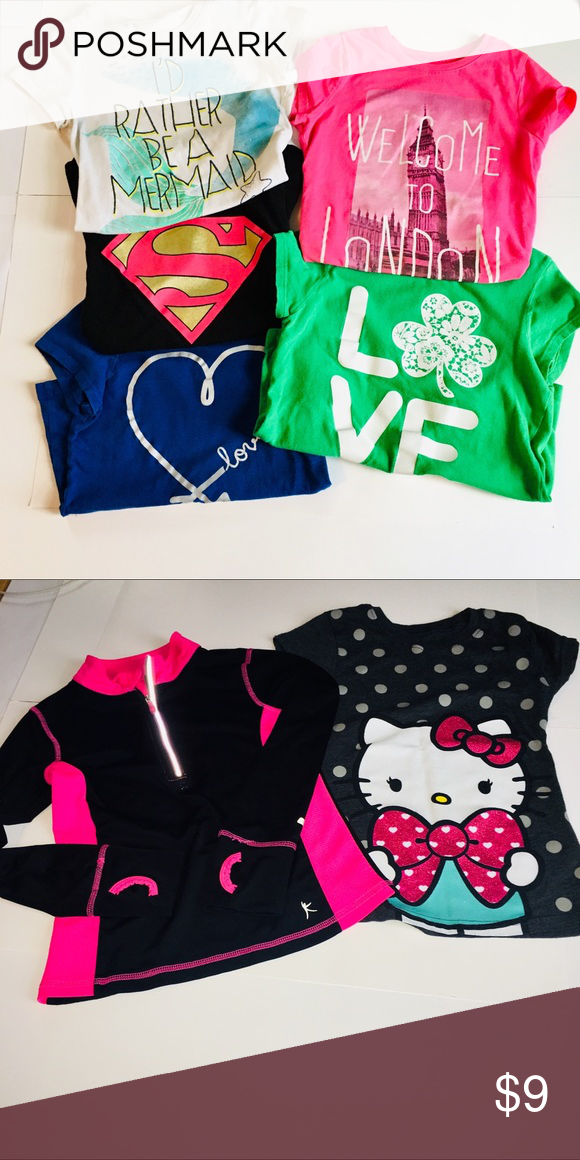 8c4a9ddae 6/6x lot This is bundle of girls size 5/6 6/6x tees! All fit like a 6/6X 4 graphic  tees from The Children's Place size 5/6 Superman Logo Shirt ...