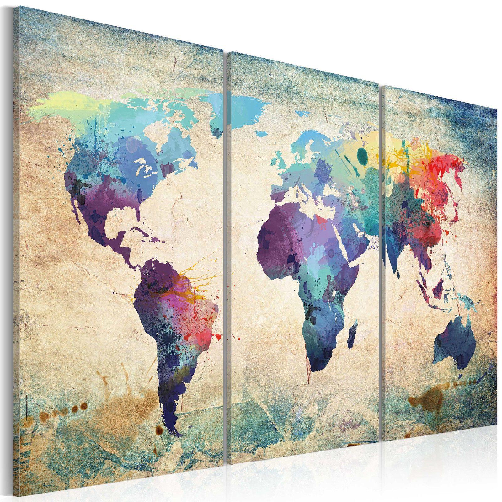Weltkarte Kontinente Landkarte Wandbilder Xxl Bilder Vlies Leinwand 020113 47 Ebay Kartenkunst Kunstproduktion Taschentuch Kunst