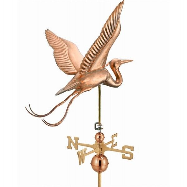 Large Blue Heron Weathervane By Good Directions Products USA
