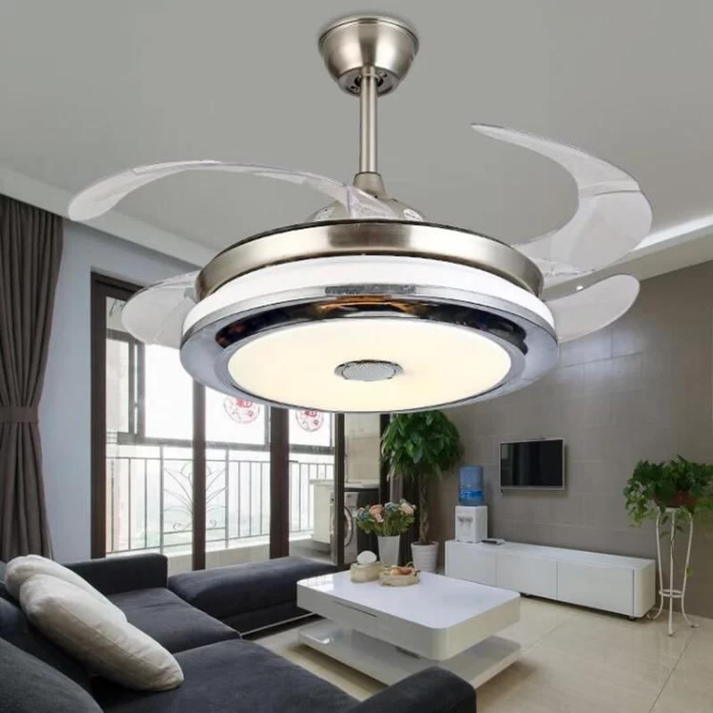 Orren Ellis 42 Ellman 4 Blade Led Smart Ceiling Fan With Remote