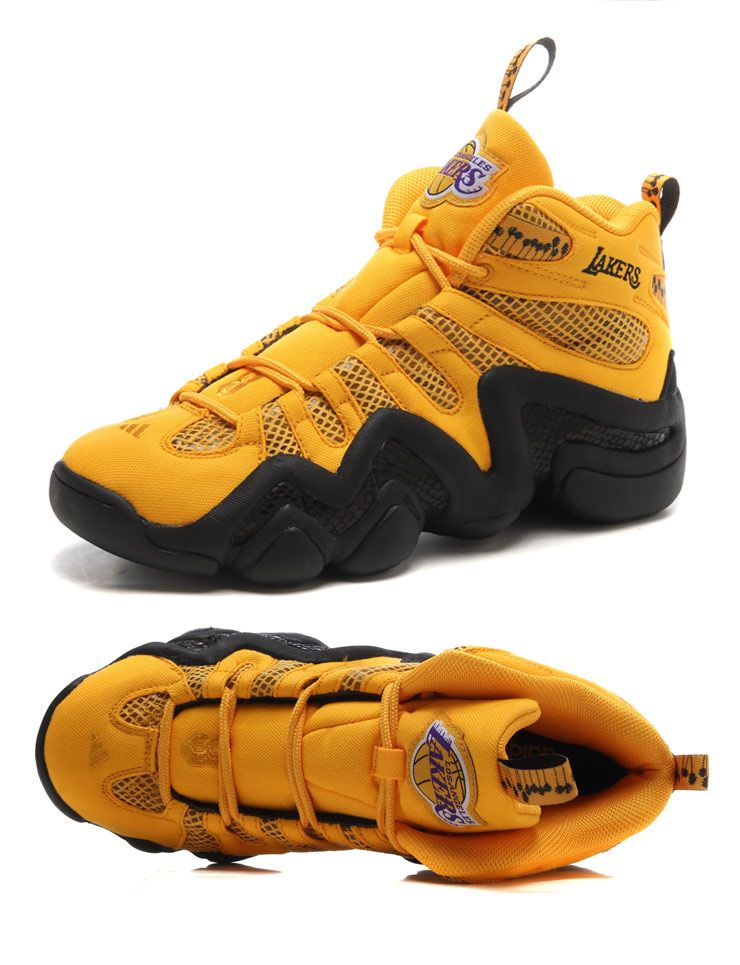 new style ce8a1 54c81 ADIDAS CRAZY 8 KOBE LOS ANGLES LAKERS YELLOW BLACK S83936 US160