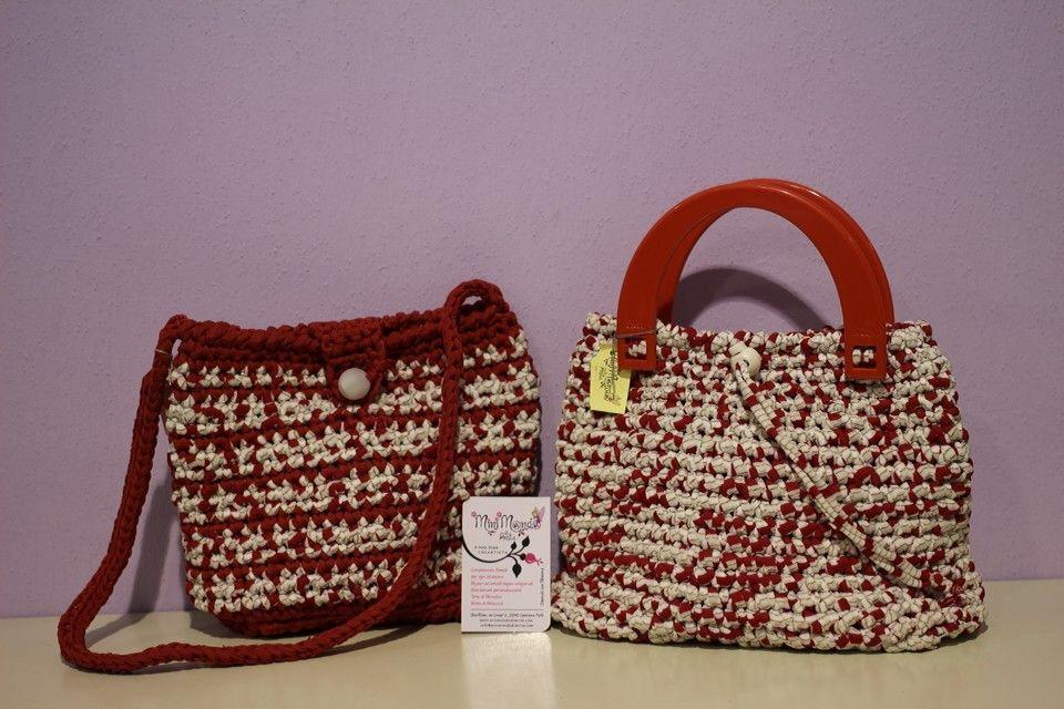 Borse fettuccie rosse e bianche www.minimondodianita.com