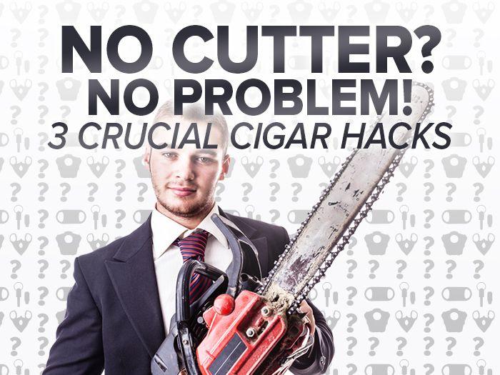 How To Cut a Cigar without a Cutter: Cigar 101 | Cigar Tips