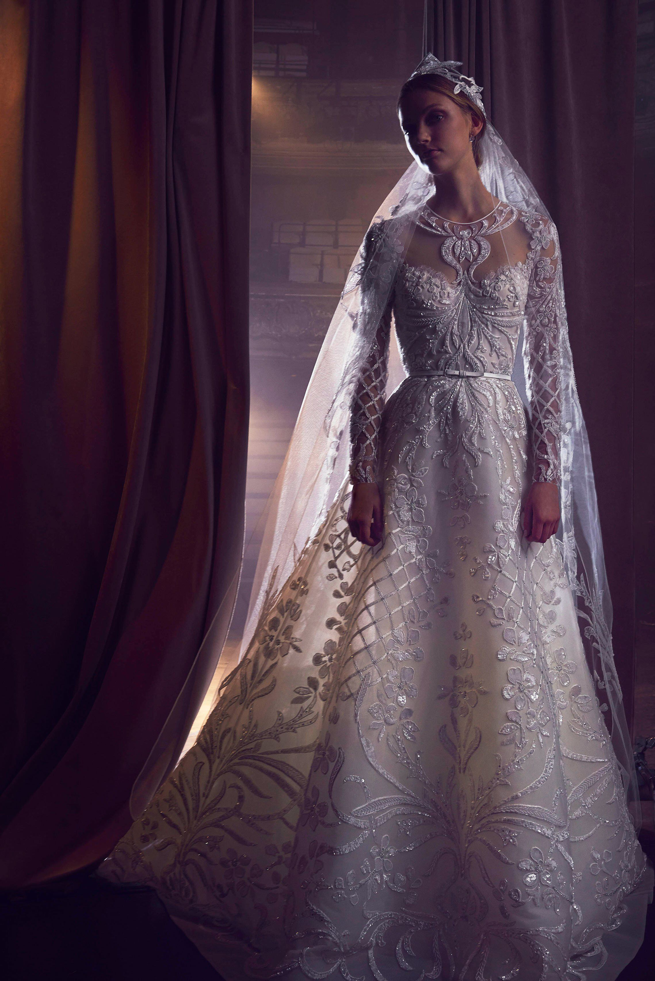 Elie saab bridal fall fashion show elie saab bridal wedding