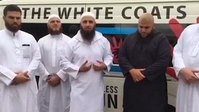Australian Muslim White Coats have established a shelter ...