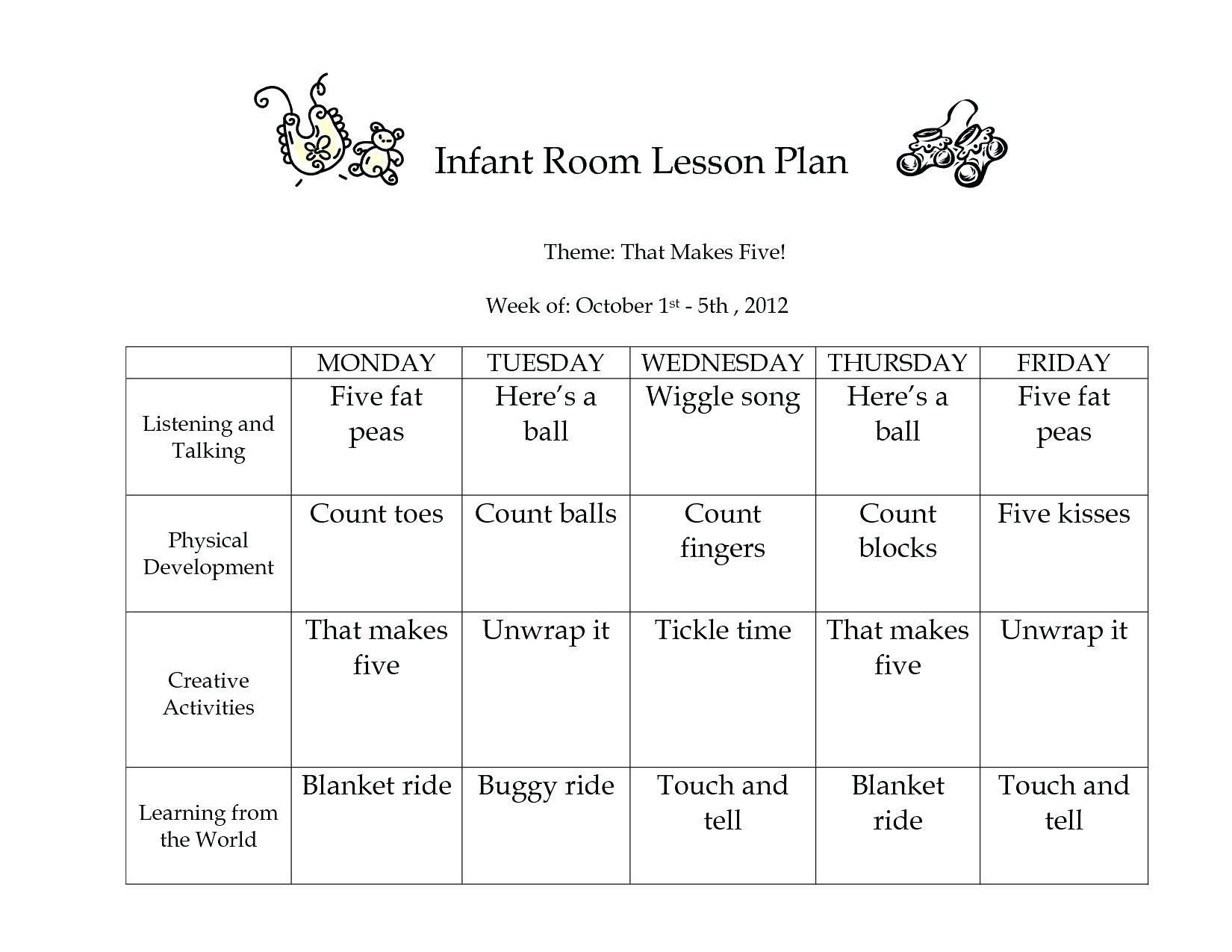 041 Lesson Plans Templates For Toddlers Plan Weekly Fresh Creative