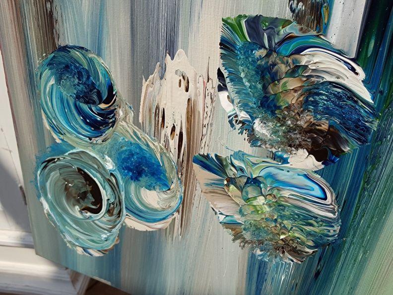 Blauwe Abstracte Schilderijen Exclusieve Wanddoeken In Blauwtinten Maatwerk Vrijblijvend Mogelijk Abstract Painting Abstract Painting