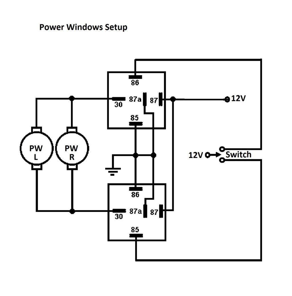 Power Window Relay Wiring Diagram