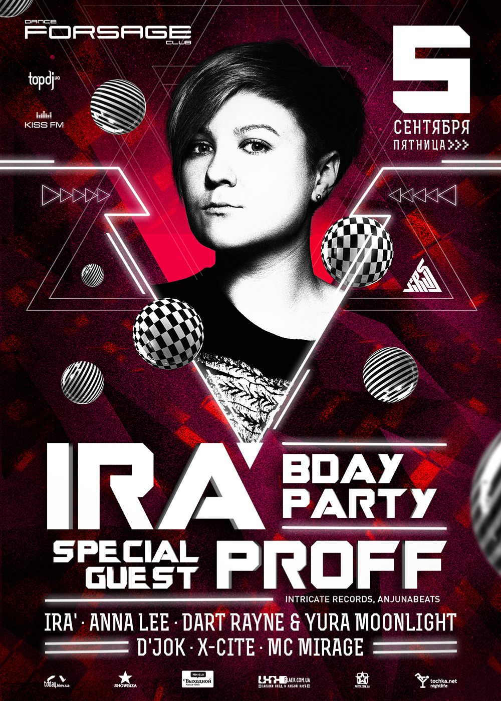 DJ IRA birthday party poster design #edm #poster #design #trance