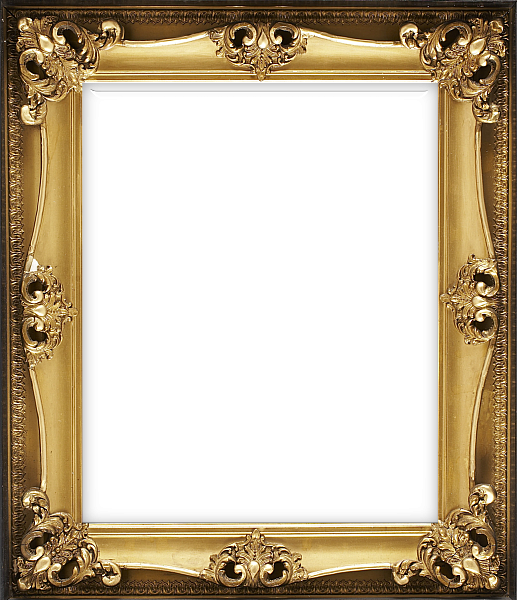 Vertical Classic Transparent Frame With Ornaments Photo Frame Design Frame Gold Picture Frames