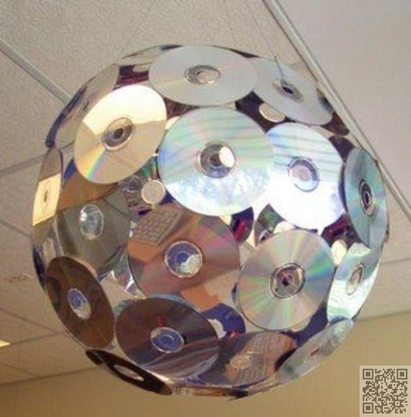 Frais 17. pas cher #boule Disco - 35 #façons de recycler de #vieux CD  FD23