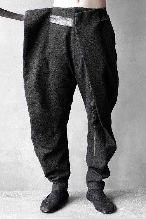 Hajotrawa Men Elastic Waist Casual Cotton Linen Straight Leg Washed Baggy Pants