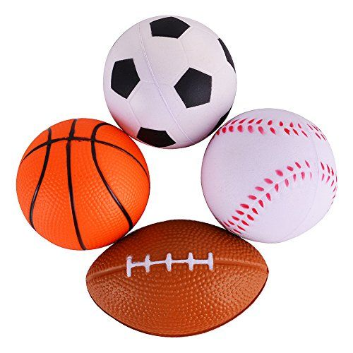 Acekid Mini Soft Pu Sports Ballsfootball Soccer Ball Basketball Baseball Set Of 4 More Info Could Be Found At The With Images Sports Games For Kids Sports Balls Sports