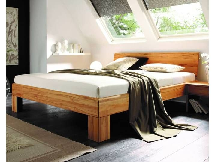 Massivholz Bett System 1020 160x200 Cm Wildeiche Bianco Bett