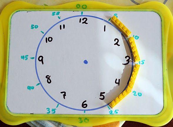 Fantastic idea for using Lego to teach #time