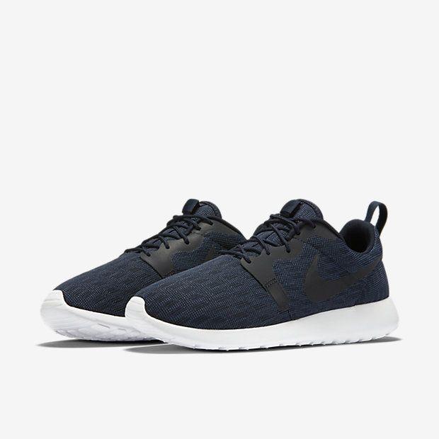 Mens Nike Roshe One Knit Jacquard Dark Obsidian/Blue/Black Shoe