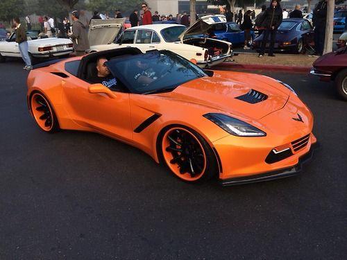 2014 Chevrolet Corvette Stingray Widebody In Tangelo Orange Corvette Sport Cars Chevrolet Corvette Stingray