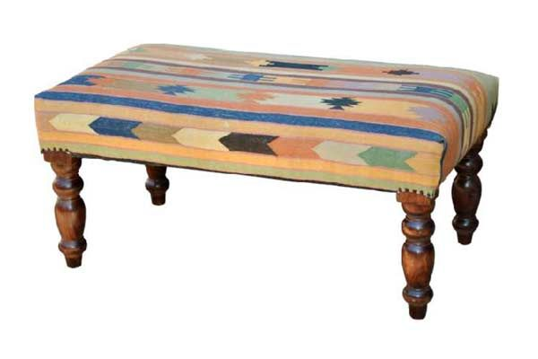Maharaja Kilim Ottoman Made By Majestic Home Furniture For Furniture  Connexion