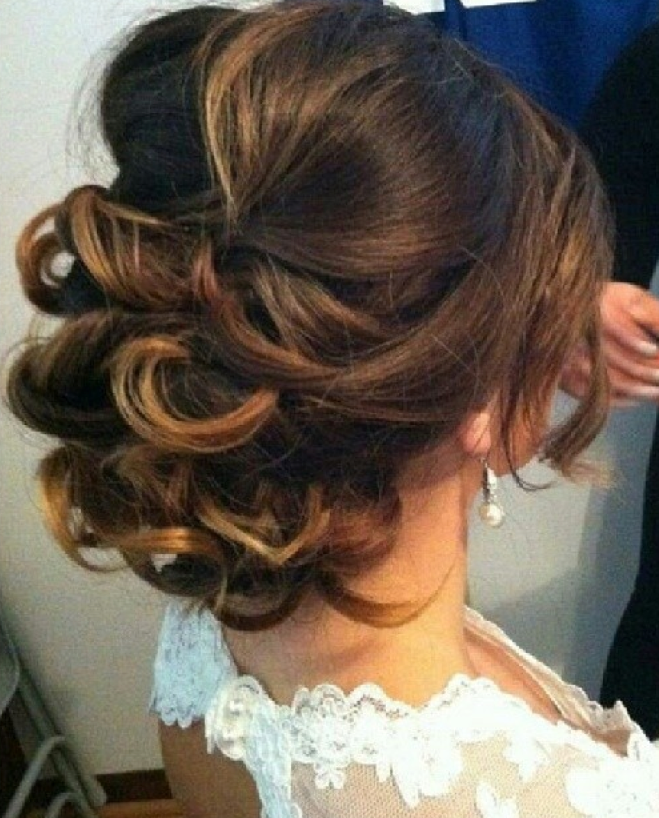 like this updo, possibly for ceremony, then let down for