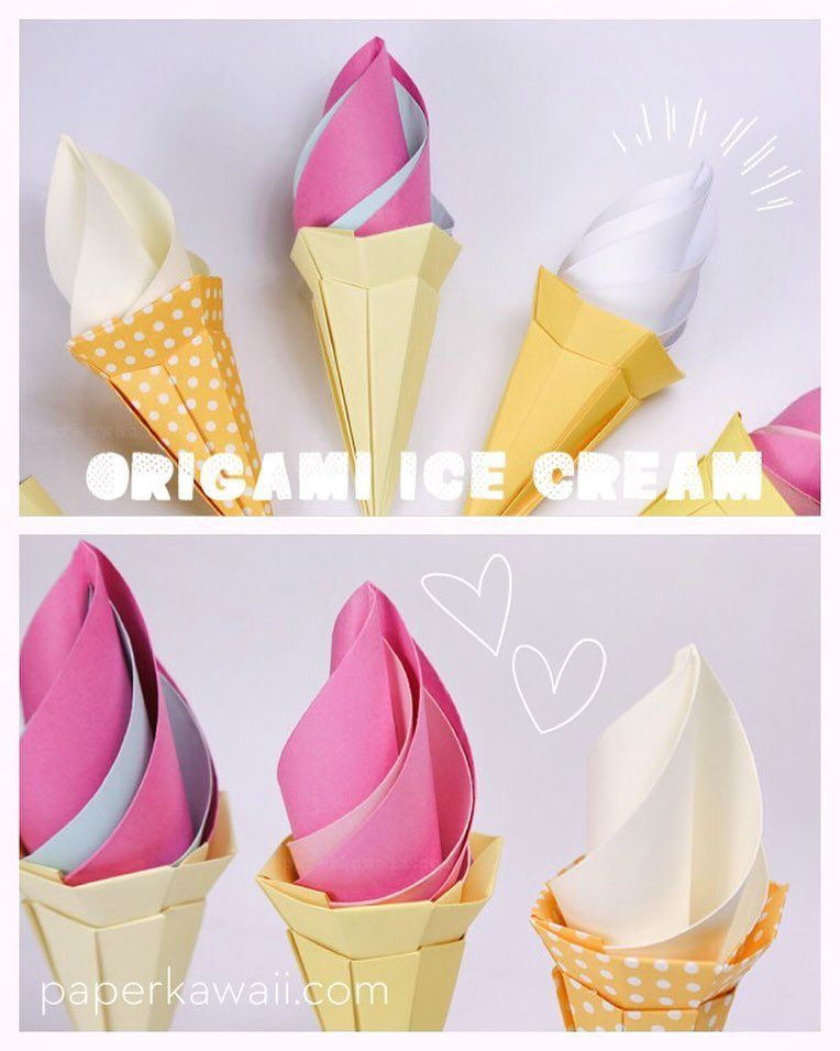 origami ice cream cone instructions modular origami
