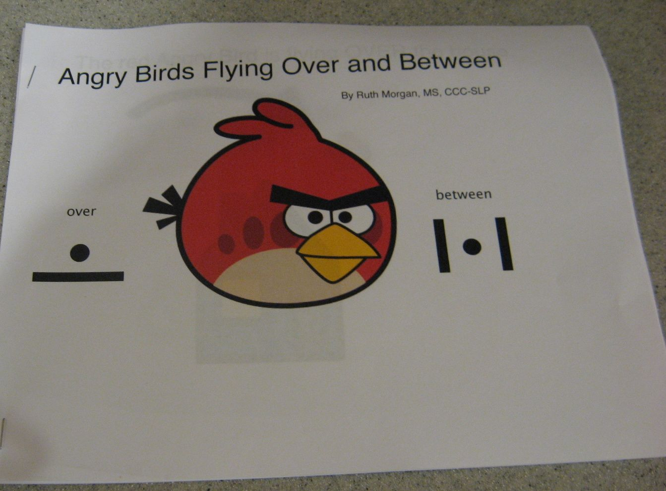Angry Birds Over And Between Printable Book
