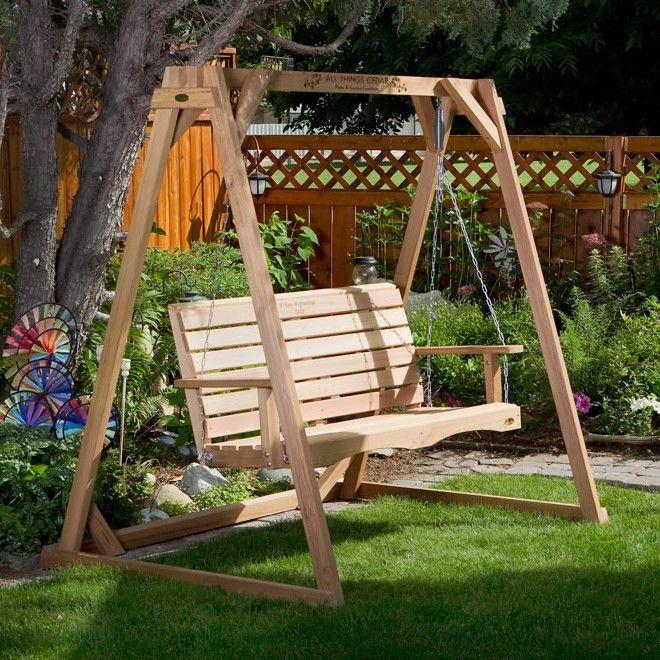All Things Cedar Duncan Red Porch Swing Stand Set Af72u S Af90u
