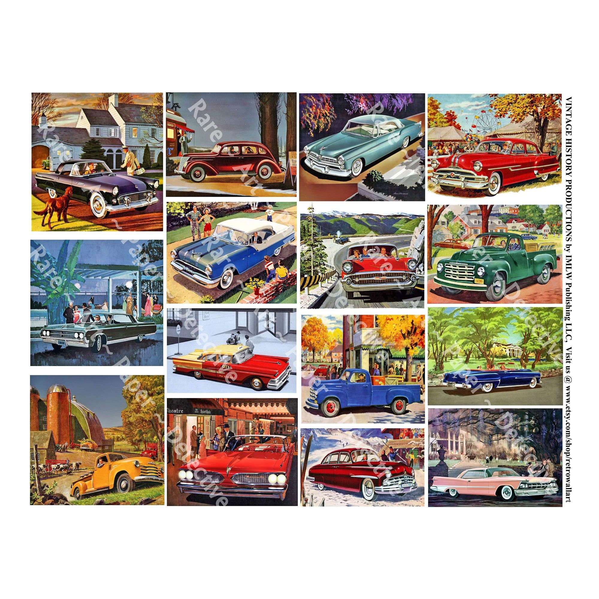 Car Stickers 15 Classic Automobile Decals For Junk Journals Etsy Car Stickers Matte Sticker Paper Party Labels [ 2000 x 2000 Pixel ]